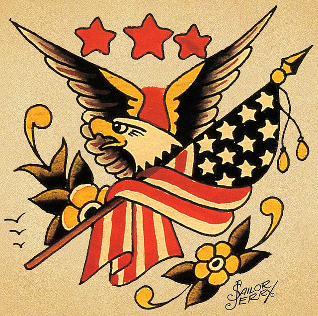 The founding father of traditional american tattoos the for American classic tattoos